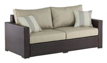 Jeffreybrook Outdoor Sofa Brown Wicker