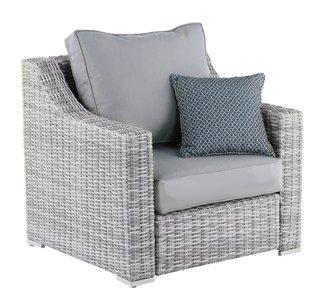 Acamar Outdoor Arm Chair Gray Wicker