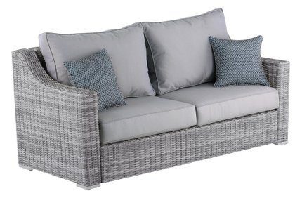 Acamar Outdoor Sofa Gray Wicker