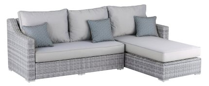 Acamar Outdoor Storage Sectional Gray Wicker