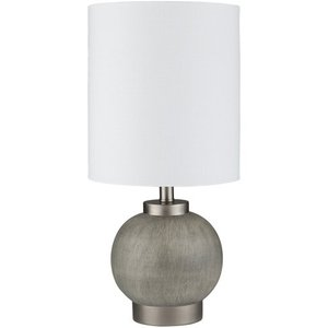 "Devlin 16.5"" Table Lamp Charcoal/White"