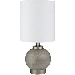 "Devlin 16.5"" Table Lamp Charcoal/White"