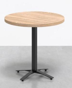 Perch Round Cafe Table Oak & Black