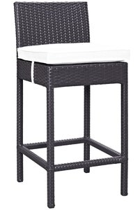 Convene Outdoor Bar Stool Espresso & White