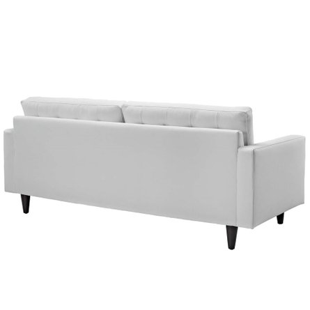 Empress Bonded Leather Sofa White
