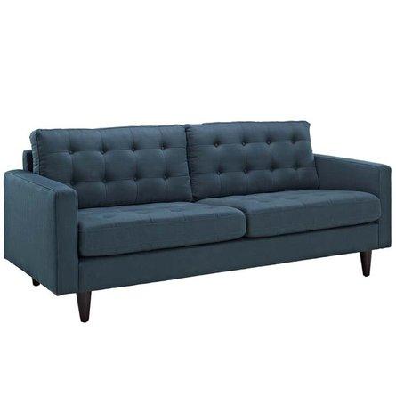Empress Upholstered Fabric Sofa Azure