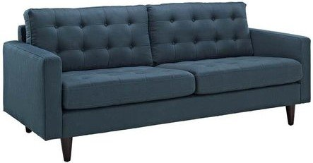 Empress Upholstered Fabric Sofa Azure