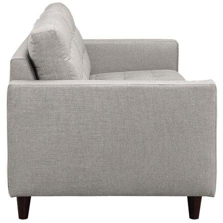 Empress Upholstered Fabric Sofa Light Gray