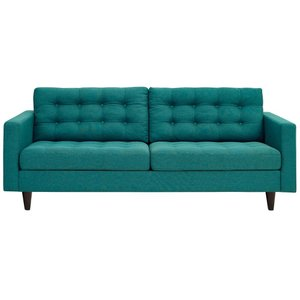 Empress Upholstered Fabric Sofa Teal