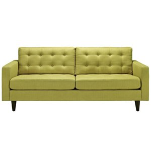 Empress Upholstered Fabric Sofa Wheatgrass
