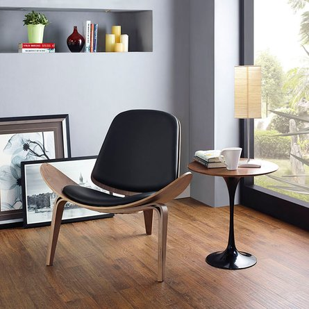 Arch Lounge Chair Walnut And Black