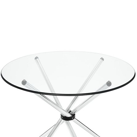Baton Round Dining Table Clear