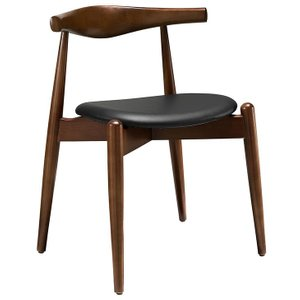 Stalwart Dining Chair Dark Walnut And Black