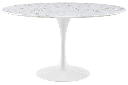 "Lippa 54"" Round Dining Table White"