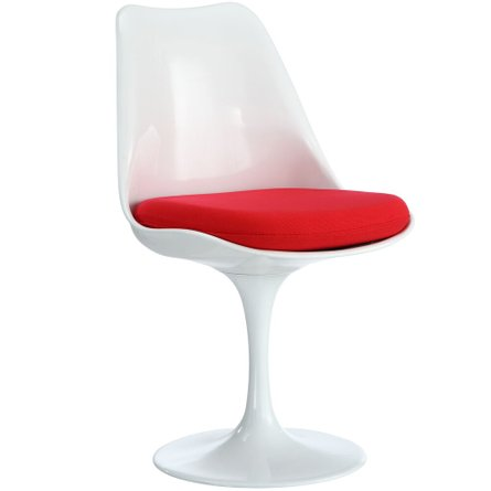 Lippa Dining Fabric Chair in Red