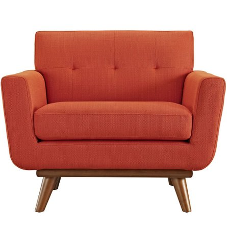 Engage Upholstered Fabric Armchair Atomic Red