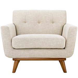 Engage Upholstered Fabric Armchair Beige