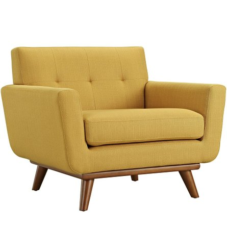 Engage Upholstered Fabric Armchair Citrus