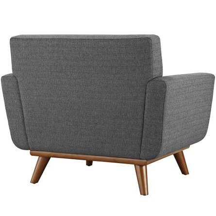 Engage Upholstered Fabric Armchair Gray