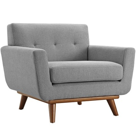 Engage Upholstered Fabric Armchair Expectation Gray