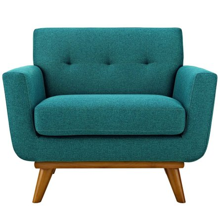 Engage Upholstered Fabric Armchair Teal