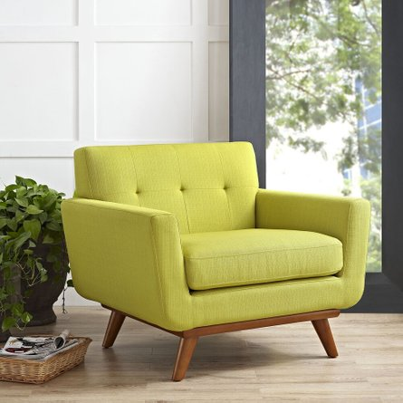 Engage Upholstered Fabric Armchair Wheatgrass