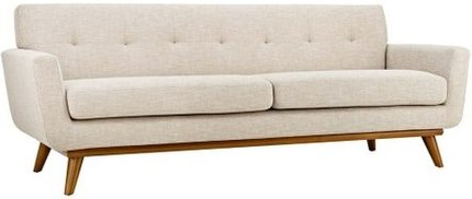 Engage Upholstered Fabric Sofa Beige