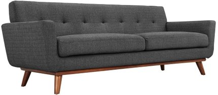 Engage Upholstered Fabric Sofa Gray