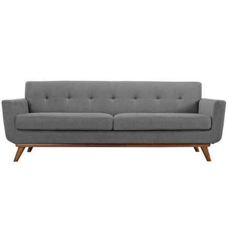 Engage Upholstered Fabric Sofa Expectation Gray