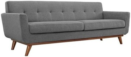 Engage Upholstered Fabric Sofa Expectation Gray