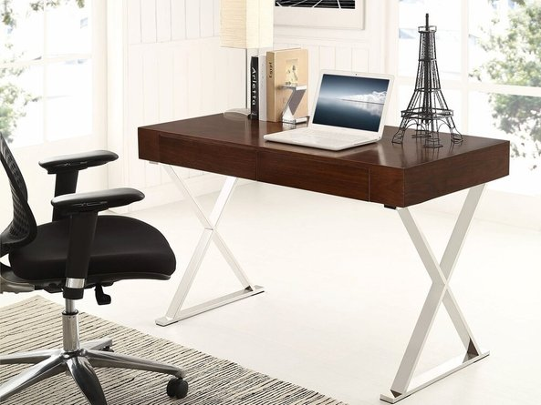 Sector Office Desk Walnut