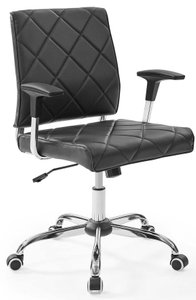 Lattice Vinyl Office Chair Black