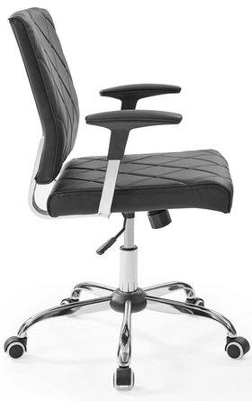 Lattice Vinyl Office Chair Black
