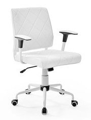 Lattice Vinyl Office Chair White