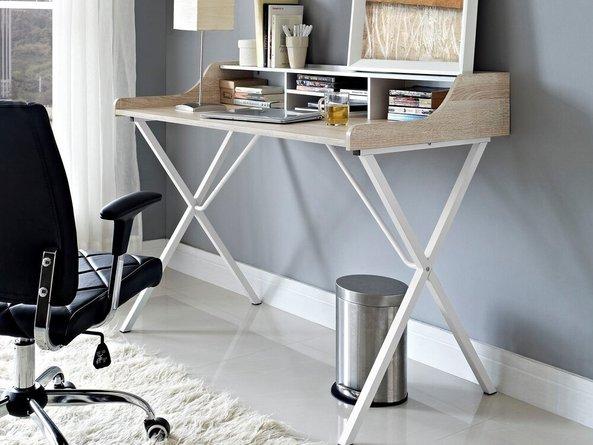 Bin Office Desk Oak