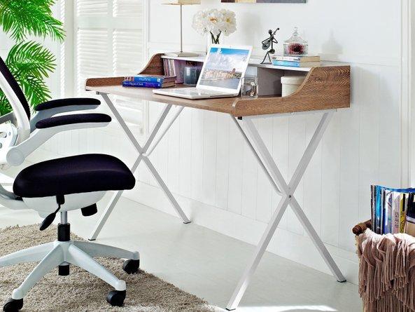 Bin Office Desk Walnut