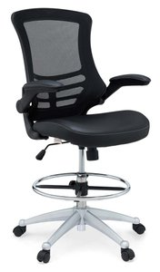 Attainment Vinyl Drafting Chair Black