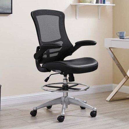 Attainment Vinyl Drafting Chair Black