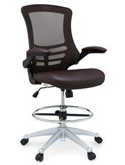Attainment Vinyl Drafting Chair Brown