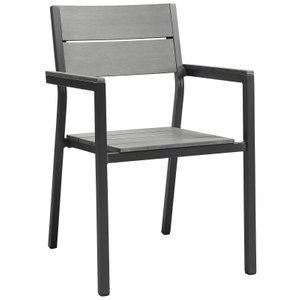Maine Dining Chair Dark Brown & Gray