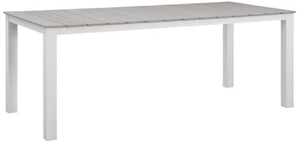 "Maine 80"" Outdoor Dining Table White & Light Gray"