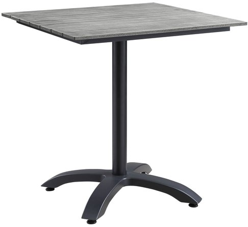"""Maine 28"""" Outdoor Dining Table Dark Brown & Gray"""