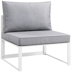 Fortuna Outdoor Armless Chair Gray & White