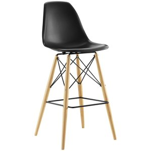 Pyramid Bar Stool Black