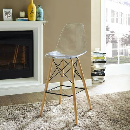 Pyramid Bar Stool Clear