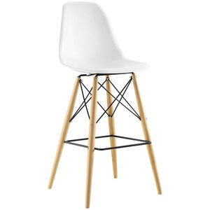 Pyramid Bar Stool White