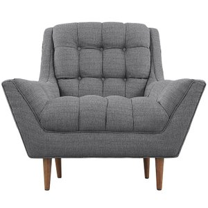 Response Upholstered Fabric Armchair Gray
