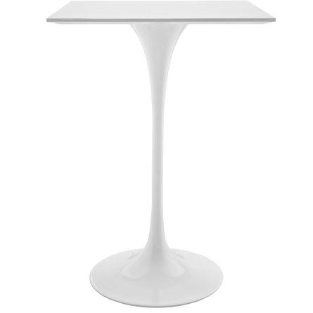 "Lippa 28"" Square Wood Top Bar Table White"