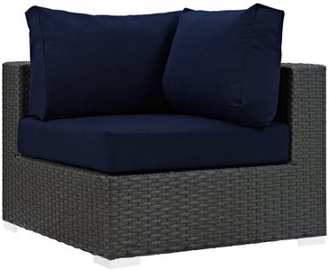 Sojourn Outdoor Corner Sofa Canvas Navy