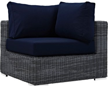Summon Outdoor Corner Sofa Canvas Navy